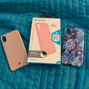 Lot of 3 like new iPhone X/xs phone cases.